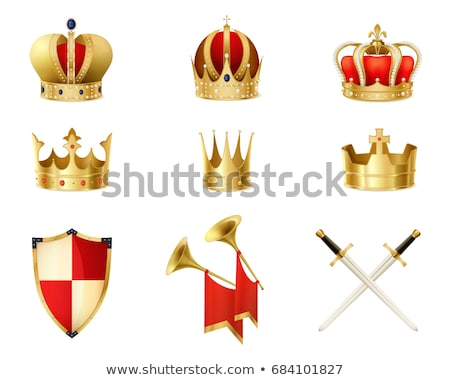 heraldic golden shield Stock photo © oblachko