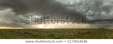 Foto stock: Nubes · de · tormenta · pradera · cielo · Canadá · siniestro · peligro