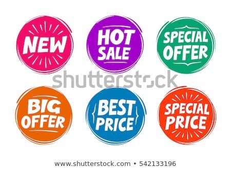 legjobb · ár · promóciós · vásár · illusztráció · terv · fehér - stock fotó © fuzzbones0