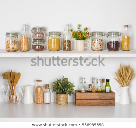 jars on the kitchen shelf  Stock photo © manera