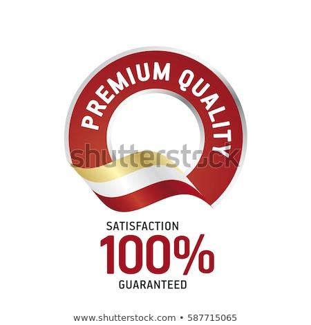 100 por ciento original rojo vector icono Foto stock © rizwanali3d