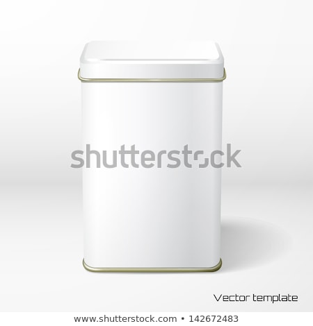 Vector object witte vierkante tin verpakking Stockfoto © netkov1