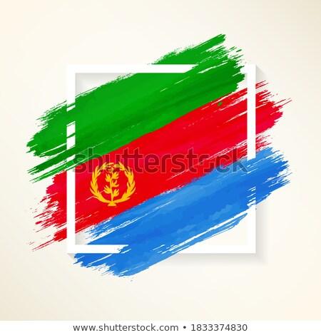 флаг Эритрея окрашенный щетка твердый аннотация Сток-фото © tang90246