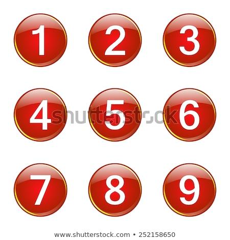 Aantal vector Rood web icon knop Stockfoto © rizwanali3d