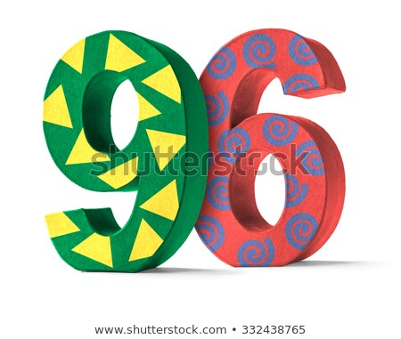 Colorful Paper Mache Number on a white background  - Number 96 Stock photo © Zerbor