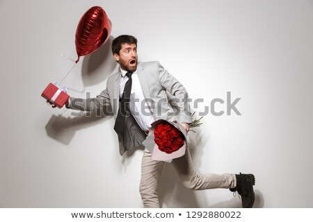 Stockfoto: Portret · lopen · vent · rozen · man