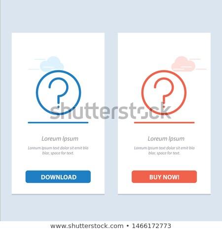 Rss vektör mavi web simgesi düğme Stok fotoğraf © rizwanali3d