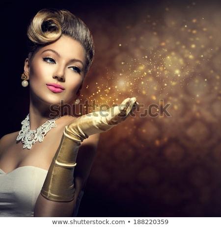 Retro Glamour Girl Stock photo © ClipArtMascots