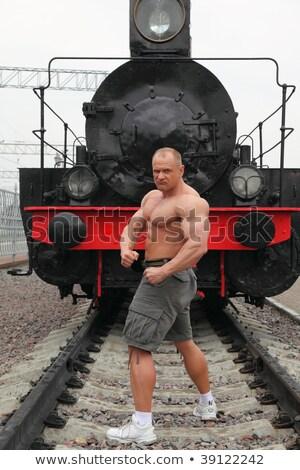 рубашки спортсмена железная дорога локомотив дороги металл Сток-фото © Paha_L