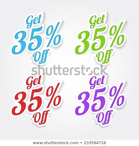 Get 35 percent Blue Vector Icon Design Stock photo © rizwanali3d