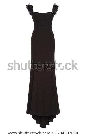 美しい ブルネット 女性 イブニングドレス マゼンタ 黒 ストックフォト © artfotoss