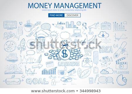 Ceny zarządzania gryzmolić projektu stylu oszczędność Zdjęcia stock © DavidArts