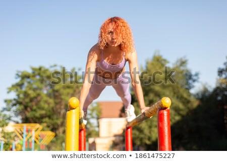 Lány sportruha rácsok gyönyörű lány nő test Stock fotó © RuslanOmega