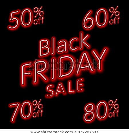black · friday · vente · néon · Shopping · promotion · affaires - photo stock © rommeo79