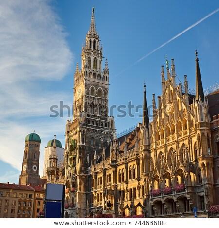 Megvilágított városháza München Németország éjszaka fény Stock fotó © manfredxy
