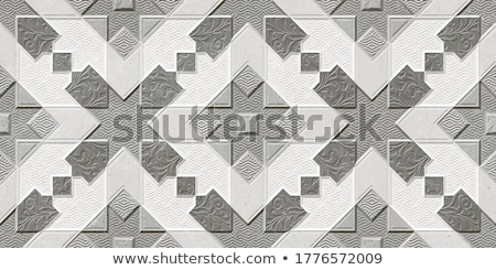 Triangle tiles floor in house stock photo © art9858