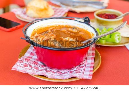 Hungarian fish soup stock photo © digoarpi