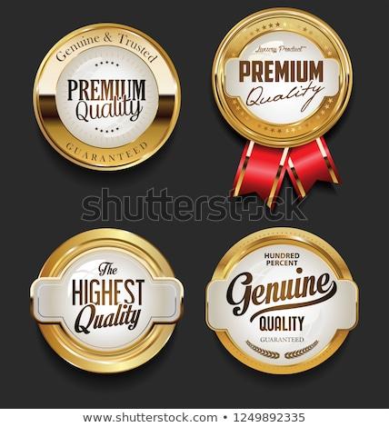 Stock fotó: Eredeti · minőség · arany · fóka · vektor · ikon