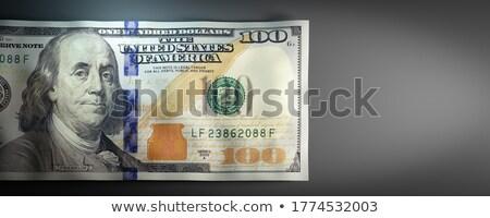 Een honderd dollar witte business cash Stockfoto © mayboro1964