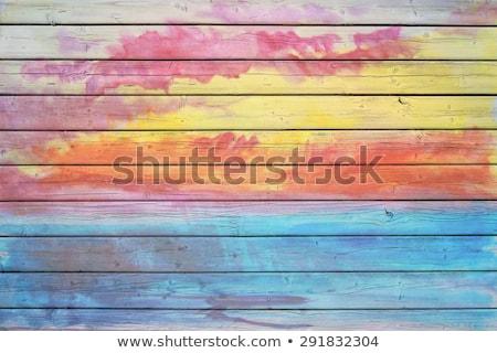 öreg · fából · készült · ajtó · izolált · fehér · épület - stock fotó © voysla