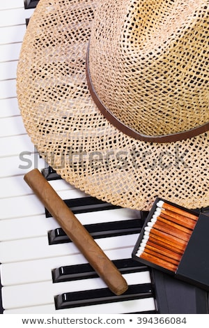 Piano Hat lusso sigaro dettaglio arte Foto d'archivio © CaptureLight