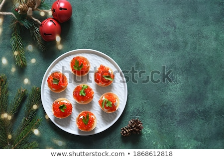 Tartlet with red caviar    Stock photo © fanfo