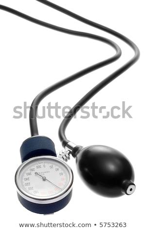 orvos · mér · vérnyomás · idős · férfi · egészségügy · kéz - stock fotó © klinker