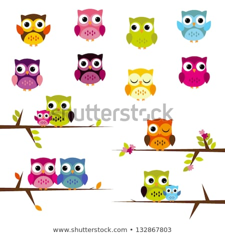 owl dad on branches Stock photo © adrenalina