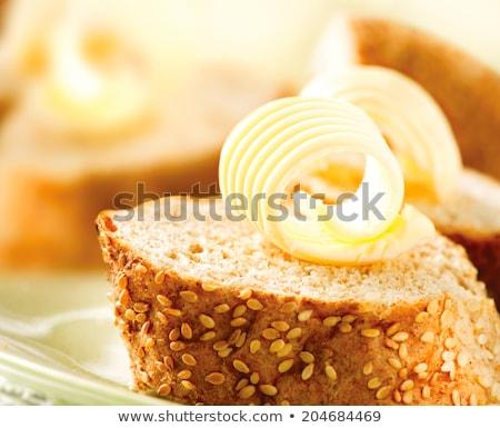 Brood boter bruin voedsel witte achtergrond Stockfoto © Digifoodstock