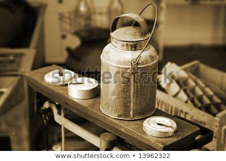 klasszikus · konzerv · autentikus · antik · mérleg · súlyok - stock fotó © lincolnrogers