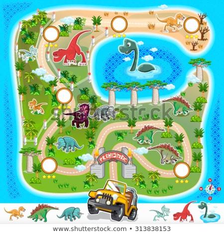 динозавр среда обитания пейзаж фон искусства графических Сток-фото © ConceptCafe