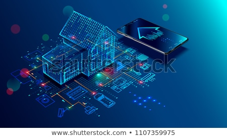 Inteligente casa internet coisas linha ícones Foto stock © ConceptCafe