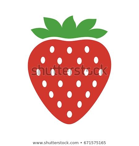 Fresche fragola clipart vettore bambini frutta Foto d'archivio © doddis