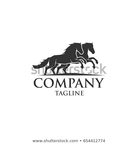 Elegante cavalo cabeça estrela forma ícone Foto stock © HunterX