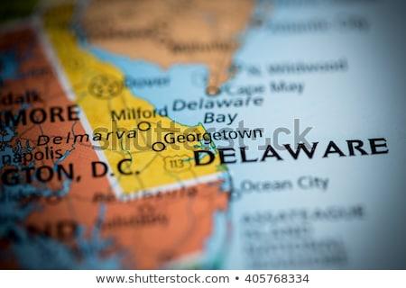 Harita Delaware seyahat kırmızı ABD yalıtılmış Stok fotoğraf © rbiedermann