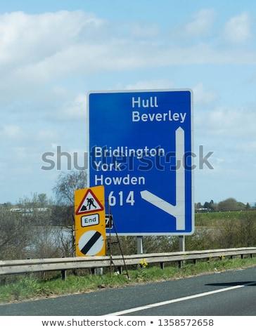Stok fotoğraf: 2017 Speed Limit Sign On Highway
