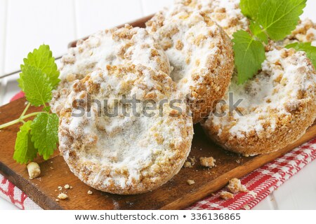 eigengemaakt · appel · chips · noten · specerijen · rustiek - stockfoto © digifoodstock