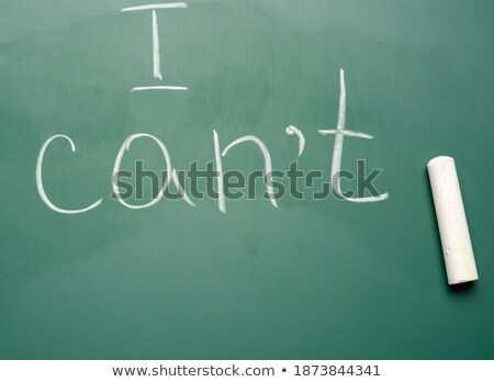 imkânsız · metin · okul · tahta · tebeşir · ofis - stok fotoğraf © fuzzbones0