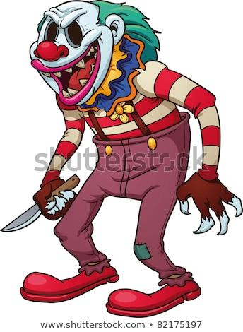 Ijesztő gonosz bohóc kés nagy kéz Stock fotó © nito