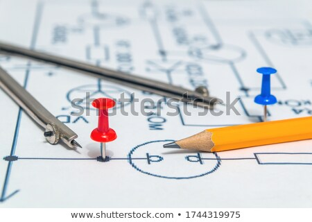 buttons with pencils stock photo © bluering