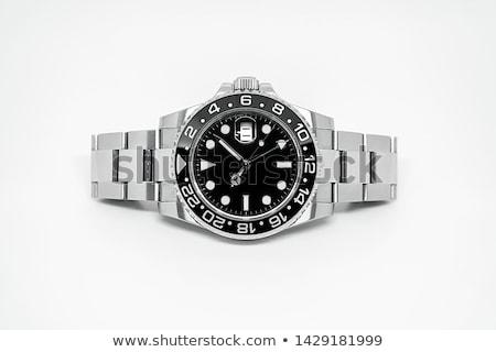Czarny podwodny biały ilustracja tle sztuki Zdjęcia stock © bluering