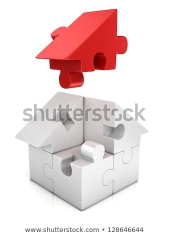 green house puzzle stock photo © oakozhan