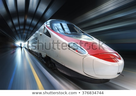 super streamlined train in tunnel stock photo © ssuaphoto