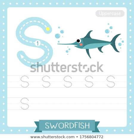 List miecz ilustracja człowiek dzieci dziecko Zdjęcia stock © bluering