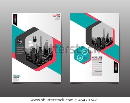 Revista página em branco modelo projeto traçado escritório Foto stock © Panaceadoll
