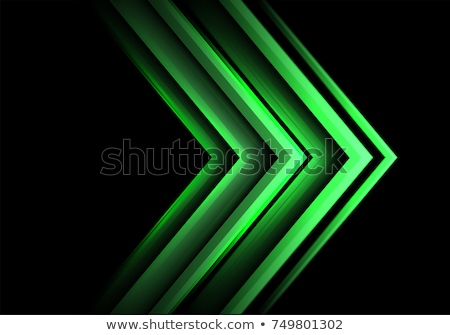 Stock photo: Green and black arrows