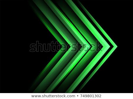 green and black arrows stock photo © monarx3d
