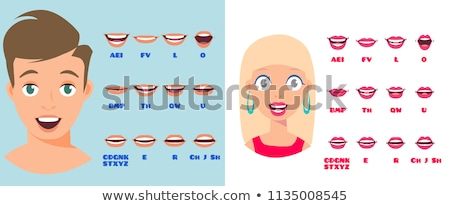 man with the lips and colors Stock photo © Panaceadoll