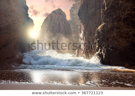 big rock in the ocean portugal stock photo © compuinfoto
