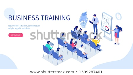 isometric people   training courses stock photo © anatolym